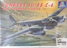 Italeri Jukers Ju-88 C-6 Heavy German Fighter Ref 1022 Escala 1:72