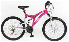 Muddyfox Phoenix 24 Inch Wheels Steel Frame Dual Suspension Bike Girls - Pink