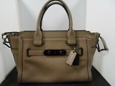 Coach Grey Putty Pebble Leather Swagger 27 Bag