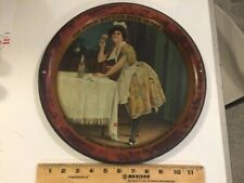 Original Prepro 1905 Harvard Brewing Ale Beer tray with Lady & Bottle Lowell Ma