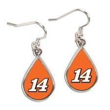 Tony Stewart 2015 Wincraft #14 Tear Drop Earrings Carded FREE SHIP!
