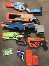 NERF Gun HUGE LOT 5 Guns Magazines Zombie Strike N-Strike