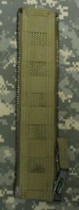 GENUINE US USAF AIRSAVE SURVIVAL VEST SMALL MOLLE ZIP EXPANSION PANEL. COYOTE.