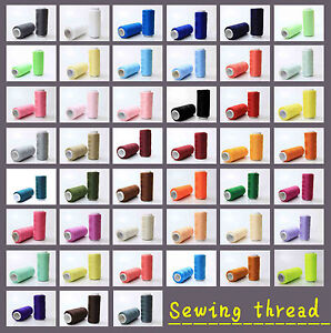 New Different colors Sewing machine line 100% polyester thread 200M each spool