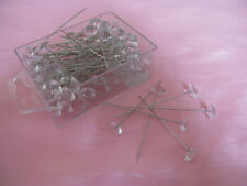 "100  2.5"" Diamante pins for weddings flowers buttonholes or crafts"