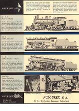catalogo AKANE MODELS 1963 Hand-Crafted HO USA Steam Locomotives Fulgurex  aa