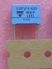 5 x Vishay MKP 1841 Condensador 0,047uF 47nF 400VDC RM15 10%