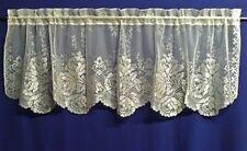 "Ivory Caprice Lace Window Valance 60"" X 20.5"" Livingroom Diningroom Bedroom"