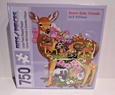 Bits And Pieces Puzzle Forest Baby Friends 750 Pieces Baby Deer Bunny Rabbit Fox