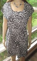 Love Notes ~ Size Small ~ Unique Leopard Print Opened Back Dress with Pockets