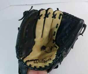 """Wilson MLB ModelA 2451 11"""" Black Baseball Glove Mitt Right Hand Custom Fit"""