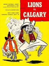 Vintage CFL Program Calgary @ B.C. Sept.9 /61 Joe Kapp's 1st Game in Vancouver