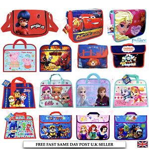 Kids Girls Boys Character Messenger Shoulder School Bag Cross Body or Book Bag