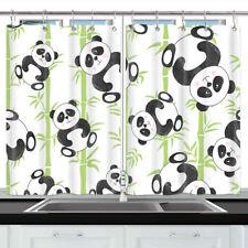 "Cute Panda Cartoon Animal Kitchen Curtains Window Drapes 2 Panels Set 55""x39"""