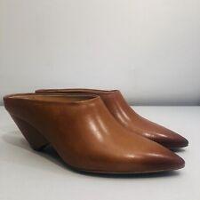 Maison Margiela Women's Pointed Toe Tan Leather Heels Size UK 6   EU 39   US 8