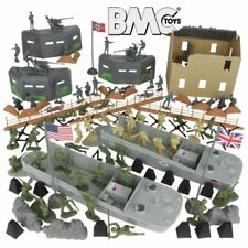 BMC D-Day Playset WWII 114 Piece 1/32 54MM US Army Toy Soldiers