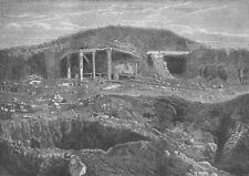 UKRAINE. Russian General's hut, Redan, antique print, 1856