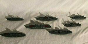 Tootsietoy Naval Fleet Diecast Armada Battleship 7 piece Set