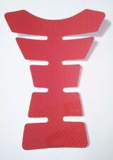 MOTORCYCLE TANK PAD RED CARBON FIBRE EFFECT PROTECTOR
