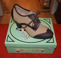 Collectif Lulu Hun Schuhe beige/braun, EUR 36 bis 41, Damen Rockabella Pumps