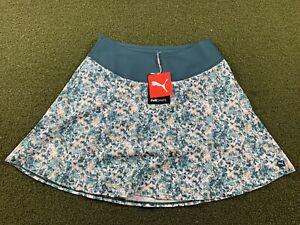 Puma Pwrshape Camo Skirt Teal Green Floral Women's SZ S ( 531237 02 )