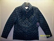 St. Johns Bay Misses Medium Blue Quilted Lt Wt Everyday Jacket FREE Shpg NWTA