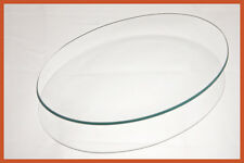 """13"""" x 18"""" Oval Clear """"BENT"""" Glass Plate 1/8"""