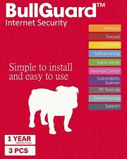 Download BullGuard Internet Security 2018 1 Year 3 Devices - Windows MAC Android