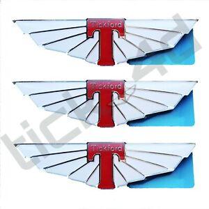 Tickford Wings Fender Emblem Badges x3 - Falcon XR6 XR8 EB ED EF EL AU...