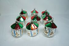 9 Vintage Christmas Glass Carousel Ornaments Old world ornament