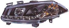 Renault Megane 1999-2002 Black Halo Angel Eye Projector Front Headlights Lights