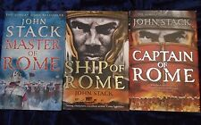 3 BRILLIANT MASTERS OF THE SEA BOOKS by JOHN STACK  ** FREE UK POST ** HARDBACKS