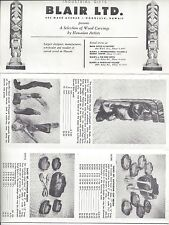 1960 era Blair Ltd. of Honolulu, Hi Wood Carvings By Hawaiian Artists Brochure