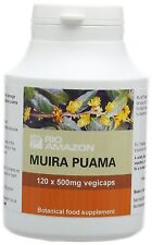 Rio Amazon 500 mg Muira Puama Vegetable Capsules - Pack of 120 NEW