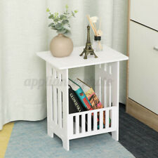 White Modern Bedside Table Bedroom Storage Rack Cabinet Organizer Hallway office