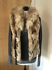 Real Fur Gillet M 8 10 12 Rabbit Fox