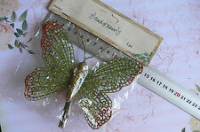 GREEN COPPER & GOLD BUTTERFLY with Hair Clip 140mm Wide & 110mmTall