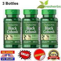 BLACK COHOSH 540mg MENOPAUSE HOT FLASH RELIEF HORMONE HERBAL SUPPLEMENT 300 CAPS
