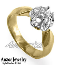 Russian Style Engagement Setting Ring 14k Gold #R1530