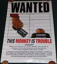 MONKEY TROUBLE 1994 ORIGINAL ROLLED DS 1 SHEET MOVIE POSTER HARVEY KEITEL