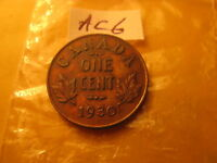 Canada Rare Collection Of Rare Key Date Pennies 1930 & 1922,23,24,25,26,27.