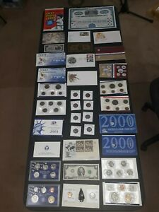 COIN LOT BIG collection MINT SETS PROOF $2 vintage train bond + NO JUNK DRAWER