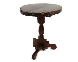 Wooden Spanish  Side Display Wine Milking Stool Table Pedestal Plant Bonsai