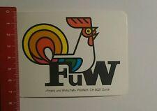 Autocollant/sticker: FUW zurich (16101659)