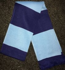 Navy and Sky Blue bars Football Scarf CCFC MCFC Coventry Manchester City bnip