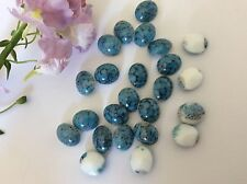 Vintage Oval Turquoise Matrix Germany C'1960 12x10mm Rare Pack 12 CRAFT