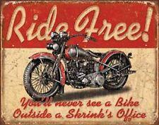 Ride Free      Vintage Style Metal Signs Man Cave Garage Decor 69