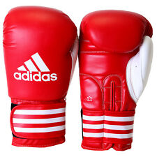 Adidas Ultima Competition Boxing Gloves - 16 oz - Red/White