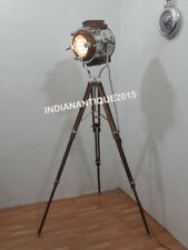 Designer Studio Wooden Nautical Spot Search Light With Wooden Stand Home Decor