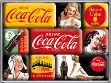 Set de 9 Mini Aimant Frigo Coca-Cola Jaune (na)
